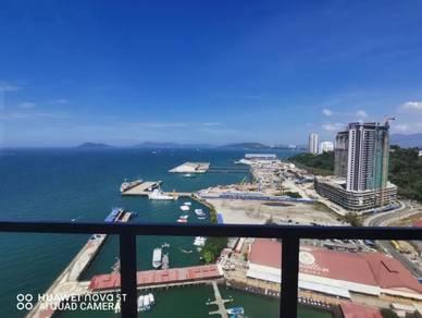 [fully seaview penthouse] [jesselton residence] [fully furnished]