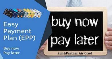 Aircond air cond 1hp*accept kad credit*ready stock