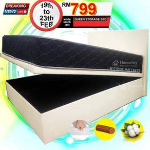 Queen Divan with Storage Bed (PU Leather)