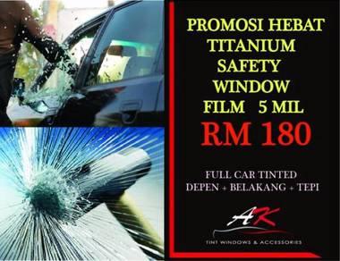 Full car tinted - safety windows film 5mil