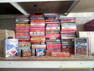 SEGA Mega Drive Classic Games Cartridges