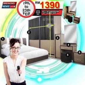 QUEEN SIZE BEDROOM SET 8FTx8FT Wardrobe Full Set