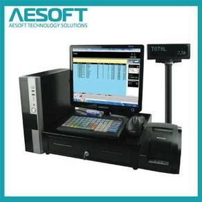 Mesin cashier pos system kaunter cash register