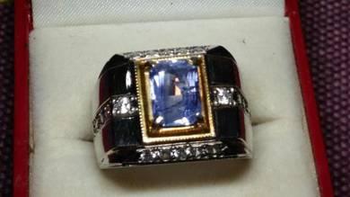 Cincin Nilam Blue Sapphire Ceylon