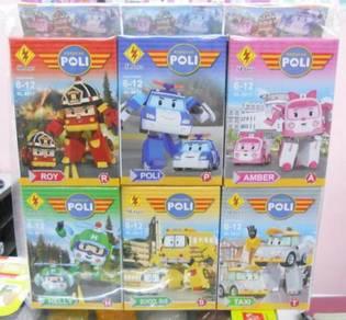Robocar poli - mini lego robot - 6 pcs set