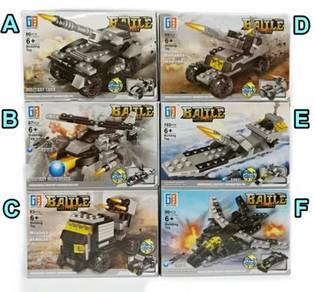 Lego block building diy toy war battle vehicles