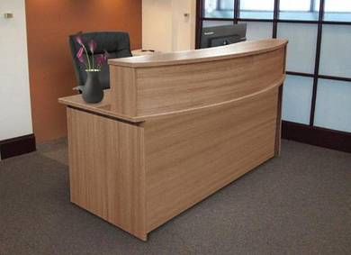 Office Reception Counter Table / Cashier D Shape