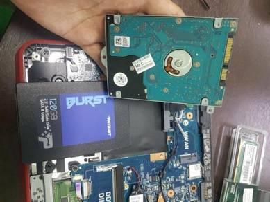 Tukar SSD Laptop Kasi Laju