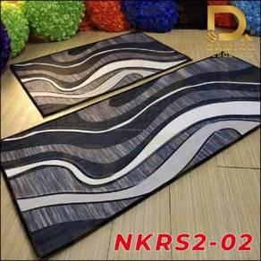 Karpet Dapur Kitchen Runner Anti Slip Rug 3D