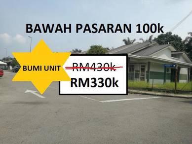 (CORNER LOT) BUMI UNIT (100k BAWAH PASARAN) - Taman AMANAH