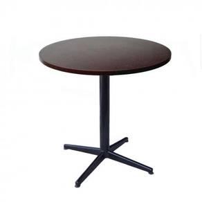Meja Makan Bulat Chipboard Top Dining Table