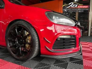 Golf Mk6 Mk7 GTI R Front Canard Carbon Forged