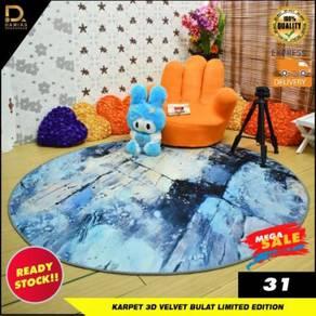 Karpet bulat round carpet trendy viral design home