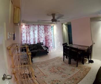 Tulip apartment 2 minit LRT cempaka bilik lengkap free utiliti