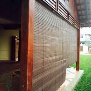 Bidai kayu wooden harga kilang tahan hujan panas