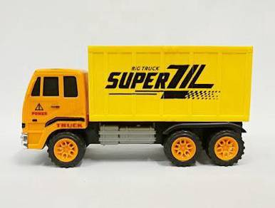 Toy delivery truck lorry 6 wheel 25cm