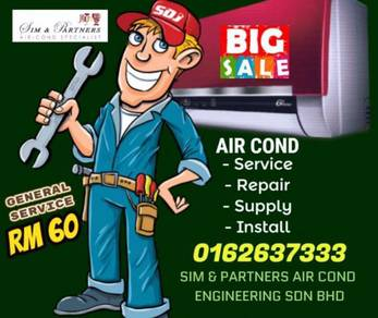 Promotion Hurry Up 60*Aircond Air cond Mon/Sun