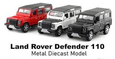 Diecast metal land rover defender 110 car model 15
