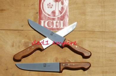 ICEL – pisau daging 20cm (hulu KAYU JATOBA)