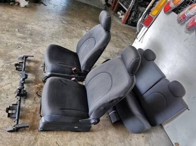 Myvi Passo Racy Boon Black Color Seat Complete Set