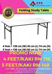 Foldable Table Meja lipat 4 dan 5 kaki feet