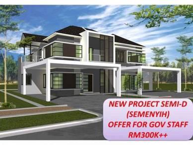 Mantin-Semenyih Semi-D RM300k (After Cash Back)CASH&LPPSA LOAN only