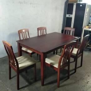 Set Meja Makan dan 6 Kerusi