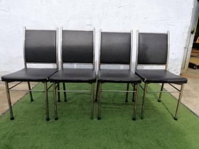 R19-C Kerusi Makan Set Dining Chair PU Leather Bla
