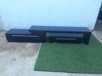 R18-R Almari TV Cabinet Flexible Tempered Glass T