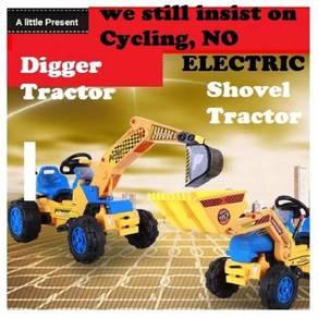 Tractor excavator car
