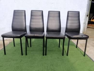 R19-B Kerusi Makan Set Dining Chair PU Leather Bla
