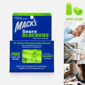 Mack's Snore Blockers Soft Foam Earplugs, 12 Pair