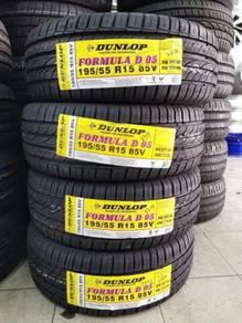Dunlop New Tayar Baru 195-55-15