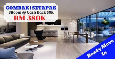 KL Setapak Gombak READY MOVE IN CASH BACK 80K freehold