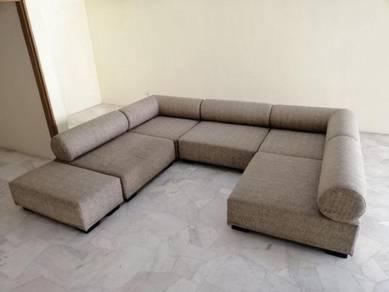 R16-A Kerusi Set Sofa Slip-Over Wash-able Flexi