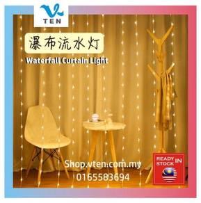 3Mx3M 320LED Raindrop Waterfall Curtain LED Light