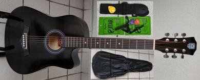 Acoustic Guitar Economy Techno 38C Black