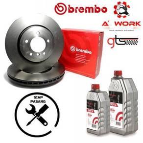 BREMBO VW Sharan Front Disc Rotor + Siap Pasang