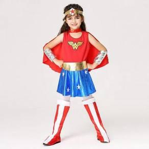 Wonder Woman Cosplay Children Costume Dress