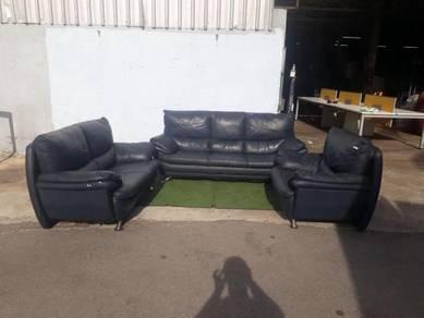 R18-S Kerusi Lorenzo Leather Sofa 1+2+3 Seater