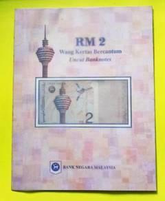 RM2 Siri ke-8 Uncut Sheet of 3 Banknote 1996