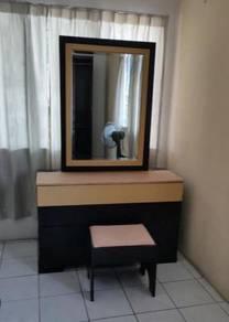 R20-D Meja Solek Dressing Table W/Stool