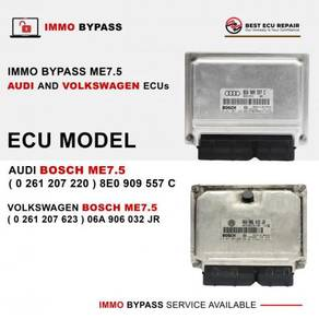 Immo bypass ecu bosch me7.5 audi and volkswagen