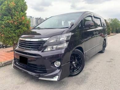 Toyota VELLFIRE 2.4 (A) BLACK COLOUR 7 SEATS