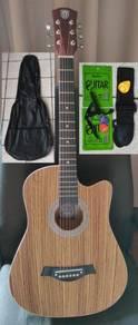 Acoustic Guitar With Truss Rod Techno TR38 Zebra