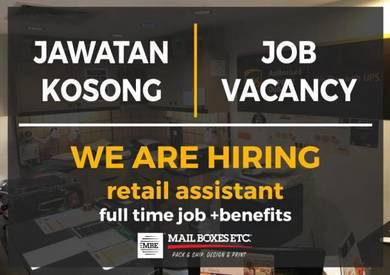 Urgent Hiring* Centre Associate / Sales Assistant