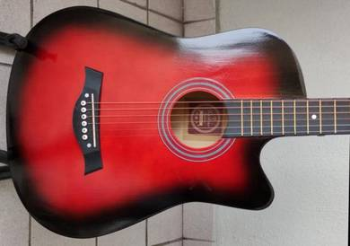 Acoustic Guitar Economy Techno 38C Red