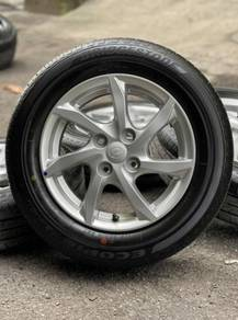 Original 14 inch sports rim Myvi tyre 99%