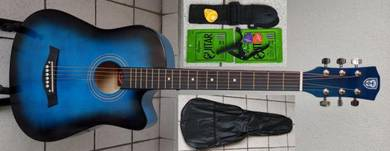 Acoustic Guitar Economy Techno 38C Blue