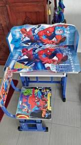 Study Table and Chair Kid Set with Cartoon Theme